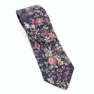Vintage Tie Floral Necktie Men's 80s 90s Retro USA